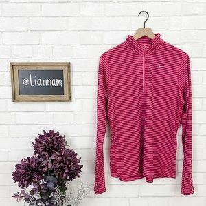 Nike Women's Pink & Gray 1/4 Zip Pullover